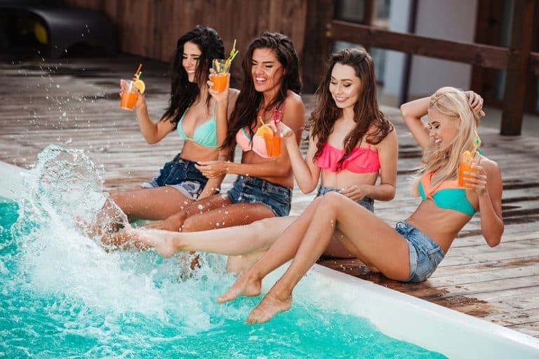 Girls on holiday