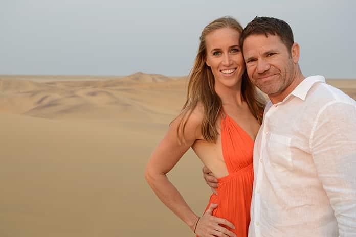 Steve Backshall With His Wife Helen Glover